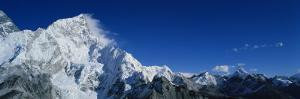 Mountains Covered with Snow, Himalaya Mountains, Khumba Region, Nepal