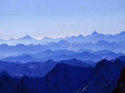 Mountains from High Above on Nanga Parbat During the Sunset Hours-Tommy Heinrich-Photographic Print
