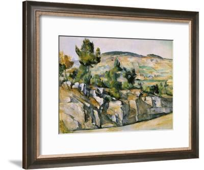 Mountains in Provence-Paul C?zanne-Framed Giclee Print