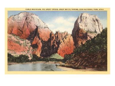 Mountains in Zion National Park, Utah--Art Print