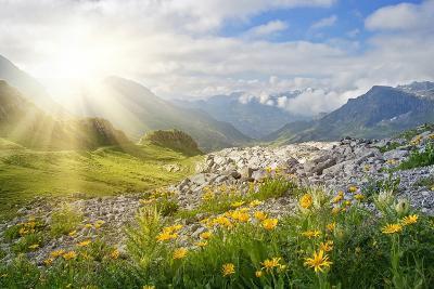 Mountains Landscape in Vorarlberg, Austria-egal-Photographic Print