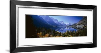 Mountains Reflected in Lake, Glacier National Park, Montana, USA--Framed Photographic Print