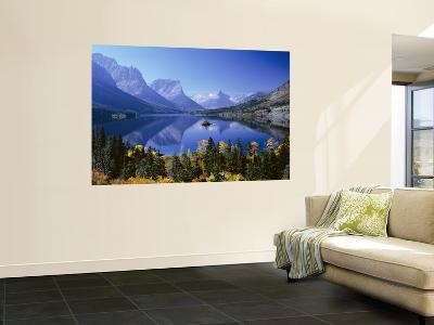 Mountains Reflected in Lake, Glacier National Park, Montana, USA--Giant Art Print