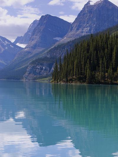 Mountains Reflected in Maligne Lake, Jasper National Park, UNESCO World Heritage Site, British Colu-Martin Child-Photographic Print