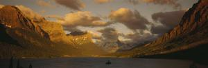 Mountains Surrounding a Lake, St. Mary Lake, Glacier Bay National Park, Montana, USA