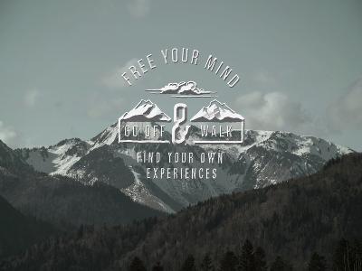 Mountains Typography Trees Alpes-Grab My Art-Art Print