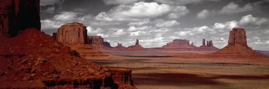 Mountains, West Coast, Monument Valley, Arizona, USA--Photographic Print