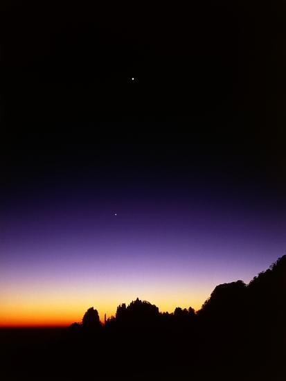 Mountaintops at Dusk-Frank Krahmer-Photographic Print