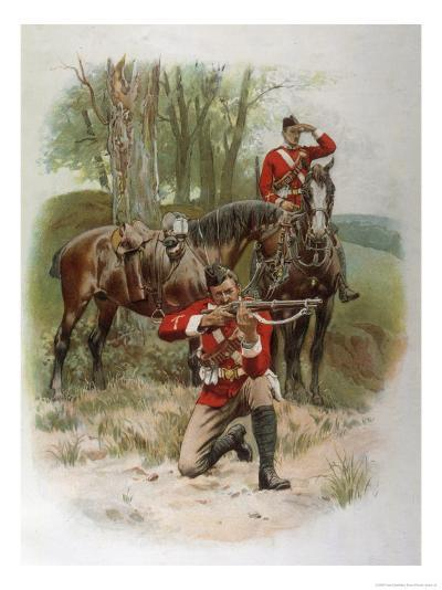 Mounted Infantry-Frank Dadd-Giclee Print