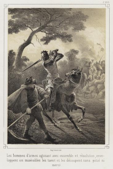 Mounted Knights Killing Peasants--Giclee Print