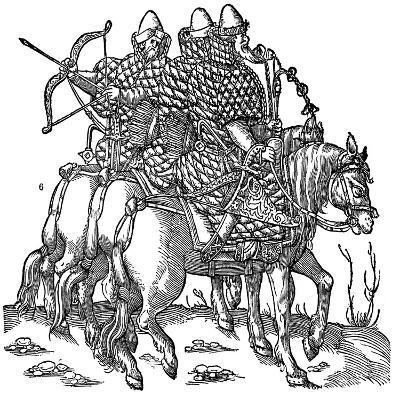 Mounted Muscovite Warriors, 1556--Giclee Print