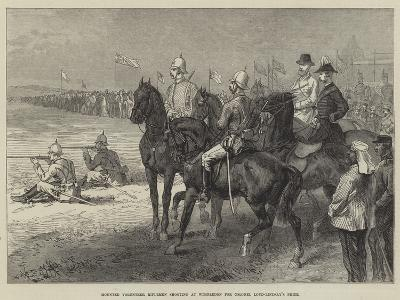 Mounted Volunteer Riflemen Shooting at Wimbledon for Colonel Loyd-Lindsay's Prize--Giclee Print