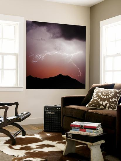 Mountian Lightning Sq-Douglas Taylor-Wall Mural
