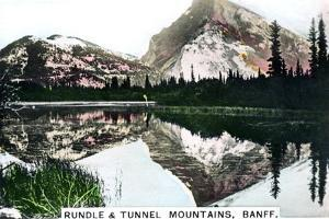 Mounts Rundle and Tunnel, Banff, Alberta, Canada, C1920S