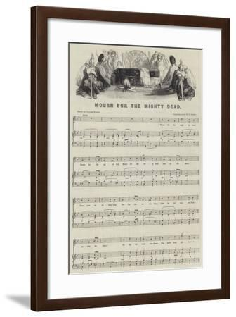 Mourn for the Mighty Dead--Framed Giclee Print