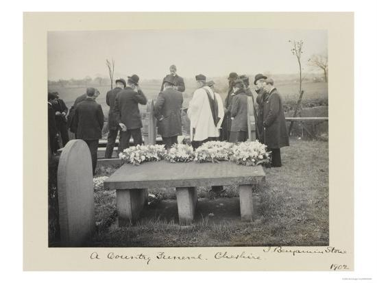 Mourners over Open Grave with Cleric, 19th Century Giclee Print by Bob  Stone | Art com
