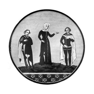 Mourning Habits, 14th Century--Giclee Print