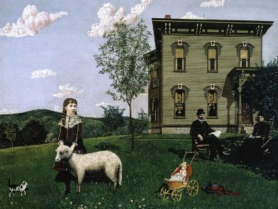 Mourning Picture, 1890-Edwin Romanzo Elmer-Giclee Print
