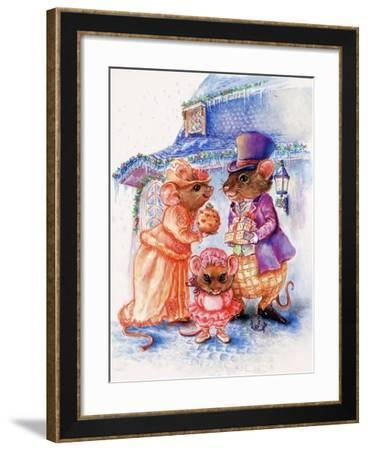 Mouse Christmas Gifts-Judy Mastrangelo-Framed Giclee Print