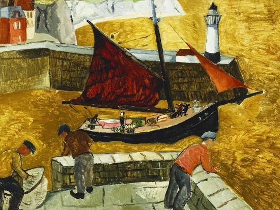 Mousehole, Cornwall, 1928-Christopher Wood-Giclee Print