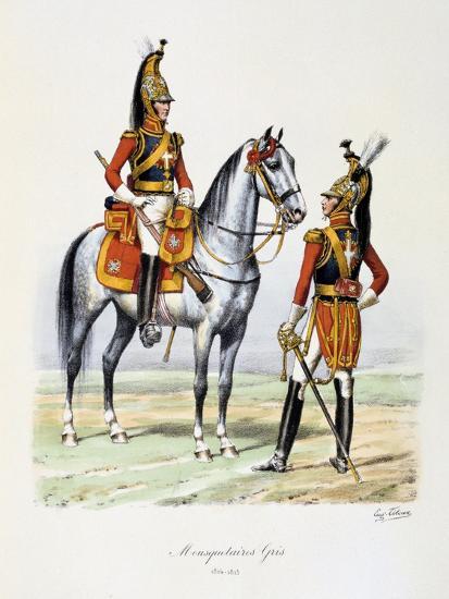 Mousquetaires Gris, 1814-15-Eugene Titeux-Giclee Print