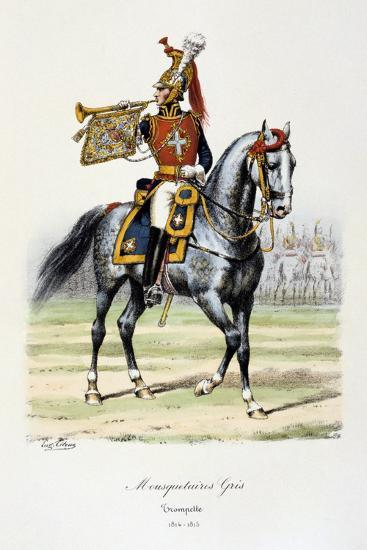 Mousquetaires Gris, Trumpeter, 1814-15-Eugene Titeux-Giclee Print