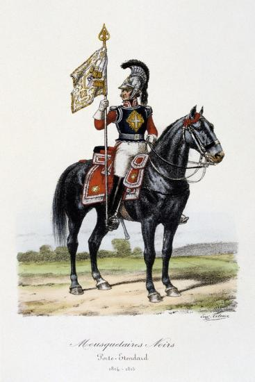 Mousquetaires Noirs, Standard Bearer, 1814-15-Eugene Titeux-Giclee Print