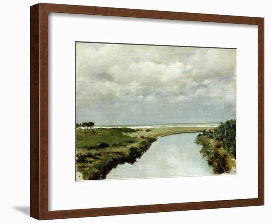 Mouth of Ombrone River-Tito Conti-Framed Giclee Print