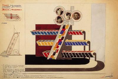 Movable Display for the Bookstore Window of the Publishing Land and Factory-El Lissitzky-Giclee Print