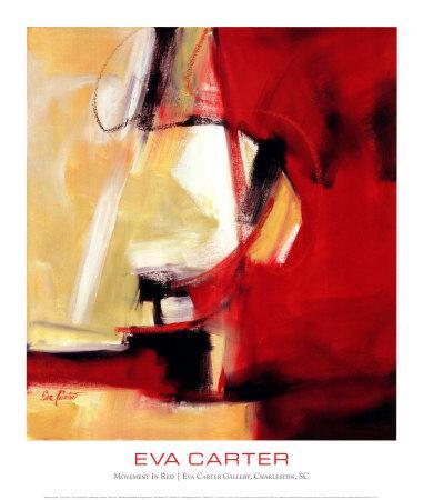 Movement in Red-Eva Carter-Art Print