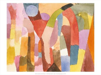 Movement of Vaulted Chambers, 1915-Paul Klee-Art Print