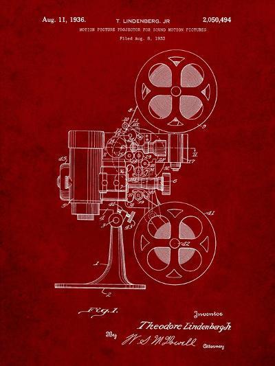 Movie Projector 1933 Patent-Cole Borders-Art Print