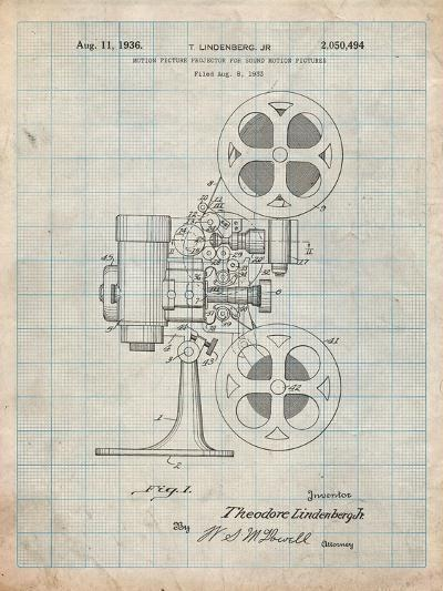 Movie Projector 1933 Patent-Cole Borders-Art Print