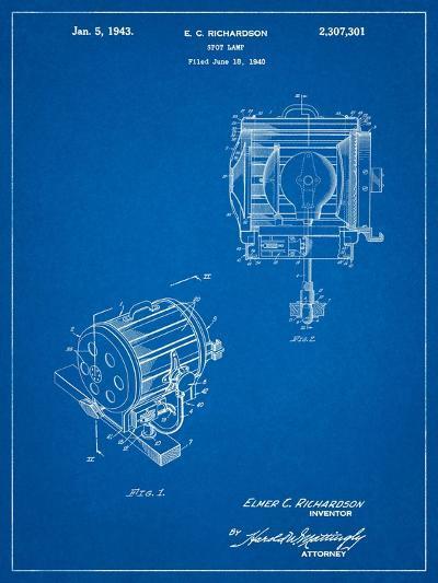 Movie Set Lighting Patent-Cole Borders-Art Print