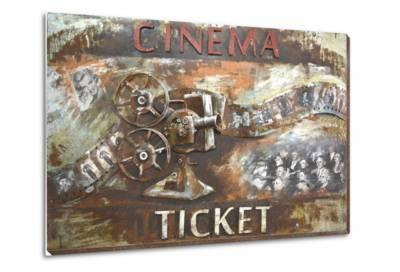 Movie Time - Dimensional Metal Wall Art--Metal Wall Art