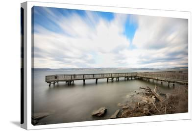 Moving Clouds--Stretched Canvas Print