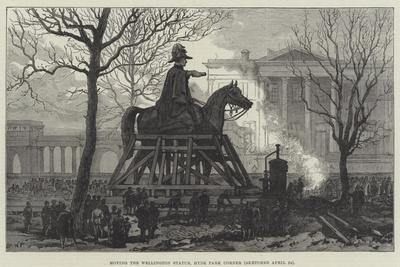 Moving the Wellington Statue, Hyde Park Corner--Giclee Print