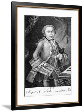 Mozart as a Boy of 7--Framed Giclee Print
