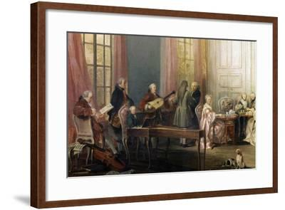 Mozart as a Child Playing Piano at a Tea Party, by Michel Barthe--Framed Photographic Print