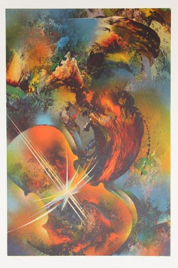 Mozart from the Sound of Color Portfolio-Leonardo Nierman-Limited Edition