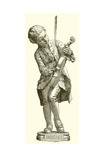 Mozart--Giclee Print