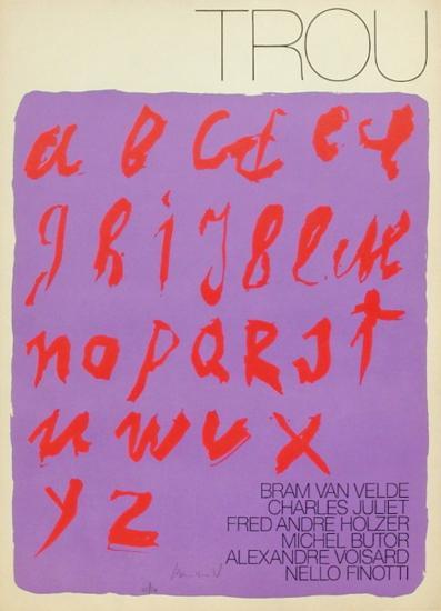 MP 388 Affiche pour la Revue Trou-Bram van Velde-Limited Edition