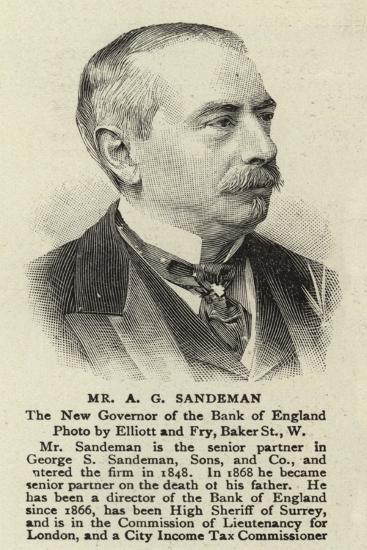Mr a G Sandeman--Giclee Print