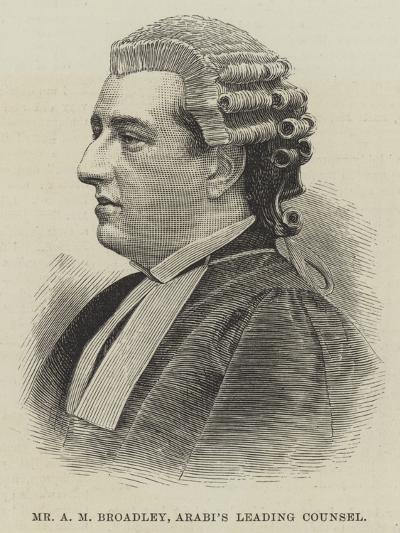 Mr a M Broadley, Arabi's Leading Counsel--Giclee Print