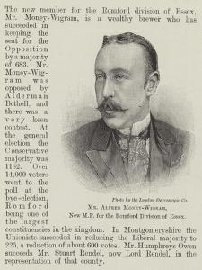 Mr Alfred Money-Wigram, New Mp for the Romford Division of Essex