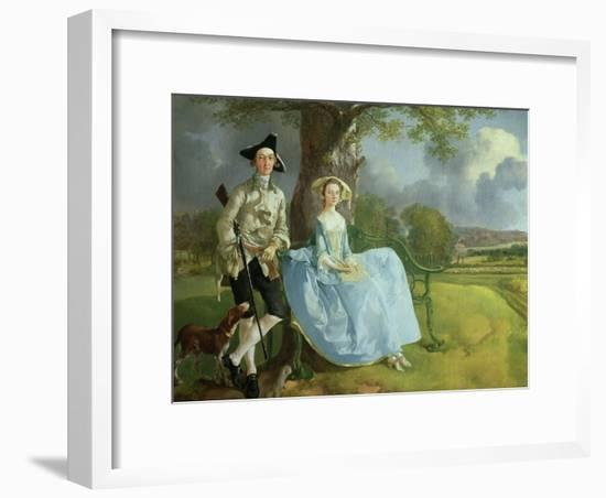 Mr. and Mrs. Andrews, circa 1748-9 (Detail)-Thomas Gainsborough-Framed Giclee Print