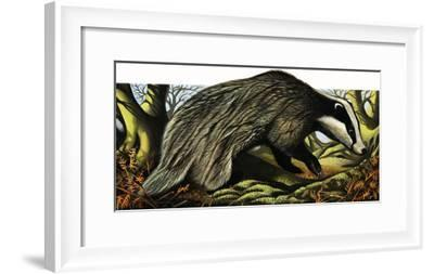 Mr and Mrs Badger at Home-David Pratt-Framed Giclee Print