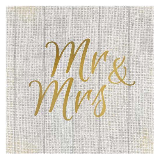 Mr and Mrs Burlap-Kimberly Allen-Art Print