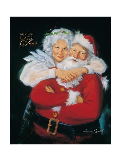 Mr. and Mrs. Claus-Susan Comish-Art Print