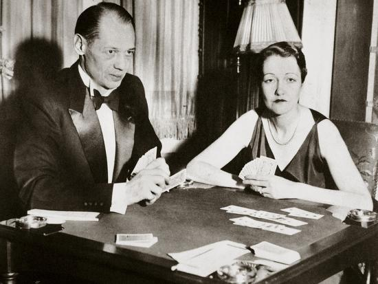 Mr and Mrs Ely Culbertson, American contract bridge players, 1931-Unknown-Photographic Print